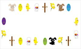 Easter illustrated background royalty free stock image