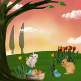 Easter illustration Stock Image