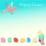 Easter illustration with birds Stock Images