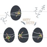 Easter illustration in cold shades. royalty free illustration