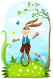 Easter illustration. With a cute rabbit Royalty Free Stock Photography