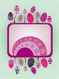 Easter illustration with eggs. Vector illustrationcard background easter eggs Royalty Free Stock Image