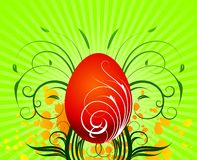 Easter illustration with painted egg Royalty Free Stock Image