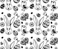 Easter illustration pattern. Easter cute  pattern  abstract illustration Royalty Free Stock Images