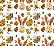 Easter illustration pattern. Easter cute  pattern  abstract illustration Royalty Free Stock Photography