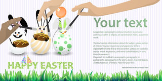 Easter illustration with place for text Stock Images