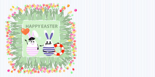 Easter illustration with place for text vector illustration