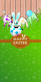 Easter illustration. Vertical orientation for your design Stock Photography