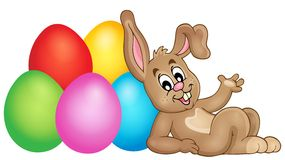 Easter image with cute bunny theme 2 Stock Image