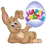 Easter image with cute bunny theme 3 Stock Photography
