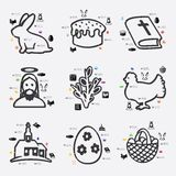 Easter infographic Stock Images