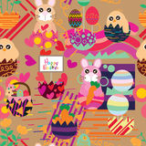 Easter inside egg style seamless pattern Royalty Free Stock Photography