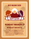 Easter invitation vector flyer, poster template Royalty Free Stock Photography