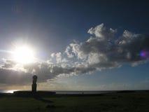 Easter Island - Ahu Tahai. Sunrise at Ahu Tahai on Easter Island stock image
