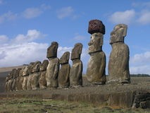 Easter Island - Ahu Tongariki Stock Photos