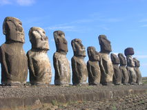 Easter Island - Ahu Tongariki Royalty Free Stock Photos