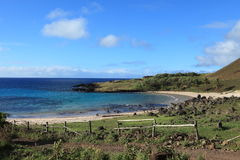 Easter Island Beach Anakena Stock Image