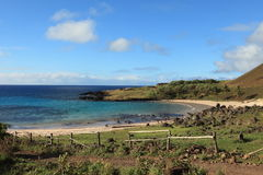 Easter Island Beach Anakena royalty free stock photos