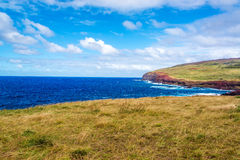 Easter Island Coastal Landscape Stock Photography