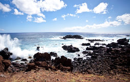 Easter Island Coastline, Royalty Free Stock Photo