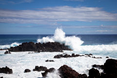 Easter Island Coastline Stock Photography