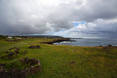 Easter Island Coastline Stock Photo
