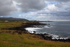 Easter Island Coastline stock photo