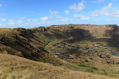 Easter Island Crater Rano Kau Royalty Free Stock Photo