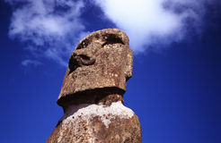 Easter Island - Head of Moai I. Head of a Esater Island statue, a moai on the island Stock Images
