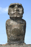 Easter Island Lonely Statue. Easter Island Moai (statue) stone carving royalty free stock photography