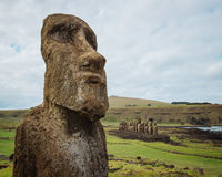 Easter Island Maoi Statue Stock Images