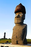 Easter Island Moai. Moai on Easter Island, Chile Stock Photo