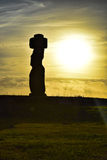 Easter Island. Moai Easter Island Chile, paradise Royalty Free Stock Photo