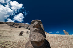 Easter Island Moai Heads Stock Images