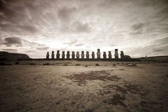Easter Island Moai Heads Stock Photography