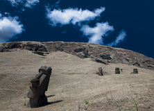 Easter Island Moai Heads Royalty Free Stock Images