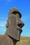 Easter Island Moai Sculpture. Ancient moai sculpture on Easter Island, portrait view Royalty Free Stock Image