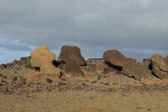 Easter Island Moai Statue. Moai Statue at Easter Island Stock Photo