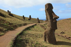 Easter Island Moai Statue Stock Photos