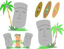 Easter Island Moai Statues Stock Photos