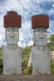 Easter island moai. Stone statue Royalty Free Stock Images