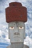 Easter island moai. Stone statue Stock Photo