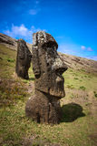 Easter Island Moai. Moai Stone Statues at Rapa Nui royalty free stock images