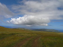 Easter Island - Mount Terevaka. View from Easter Island highest point - Mt Terevaka Hill stock images