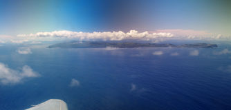 Easter Island from a plane Stock Photography
