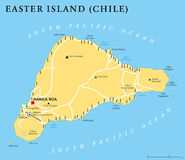 Easter Island Political Map Royalty Free Stock Photo