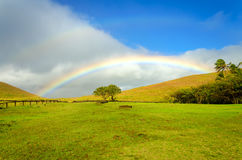 Easter Island Rainbow royalty free stock images