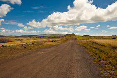 Easter Island Road royalty free stock image