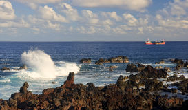 Easter Island - sea view from the waterfront Stock Image