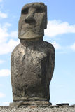 Easter Island Solitary Statue. Easter Island Moai (statue) stone carving royalty free stock photography